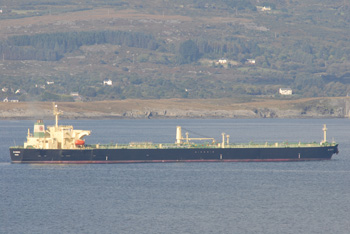 Super tanker in Bantry Bay, Ireland