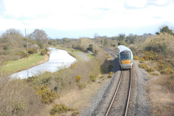 Train near Royal Canal, County Meath, Ireland